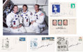 Autographs:Celebrities, Apollo 7 Crew-Related Signed Philatelic Covers (Five) with ColorPhoto.... (Total: 6 Items)