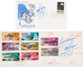 Autographs:Celebrities, Apollo 8 Stamp First Day Covers (Two), Both Signed by Lovell, OneAlso by Borman. ... (Total: 2 Items)
