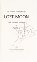 Autographs:Celebrities, James Lovell and Jeffrey Kluger Signed Book: Lost Moon. ...