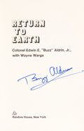 Autographs:Celebrities, Buzz Aldrin Signed Book: Return to Earth, with NovaspaceCOA....