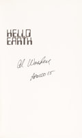 Autographs:Celebrities, Al Worden Signed Book: Hello Earth, Greetings FromEndeavour....