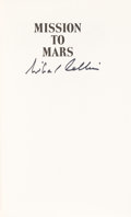 Autographs:Celebrities, Michael Collins Signed Book: Mission To Mars....
