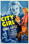 "Movie Posters:Crime, City Girl (20th Century Fox, 1938). One Sheet (27"" X 41"").. ..."