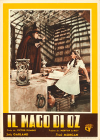 "The Wizard of Oz (C.I.A., 1948). First Post-War Release Italian Photobustas (5) (13.5"" X 19""). ... (Total: 5 I..."
