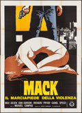 "Movie Posters:Blaxploitation, The Mack (Gold Film, 1974). Italian 4 - Fogli (55"" X 78""). Blaxploitation.. ..."