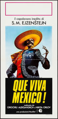 "Movie Posters:Documentary, Que Viva Mexico (Cidif, R-1980). Italian Locandina (13"" X 27.5""). Documentary.. ..."