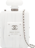 "Luxury Accessories:Bags, Chanel Limited Edition Paris-Roma White Marbled Perspex PerfumeBottle Bag. Pristine Condition. 5"" Width x 6"" Heightx..."