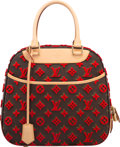 "Luxury Accessories:Bags, Louis Vuitton Classic Monogram Canvas & Red Tuffetage Pont NeufBag. Excellent to Pristine Condition. 11"" Width x 10""..."