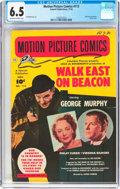 Golden Age (1938-1955):Miscellaneous, Motion Picture Comics #113 Walk East of Beacon (Fawcett Publications, 1952) CGC FN+ 6.5 Off-white to white pages....