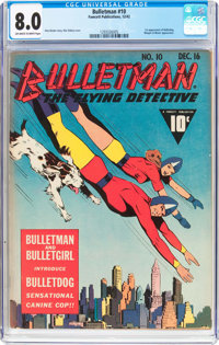 Bulletman #10 (Fawcett Publications, 1942) CGC VF 8.0 Off-white to white pages