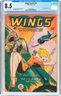 Golden Age (1938-1955):War, Wings Comics #94 (Fiction House, 1948) CGC VF+ 8.5 Cream tooff-white pages....