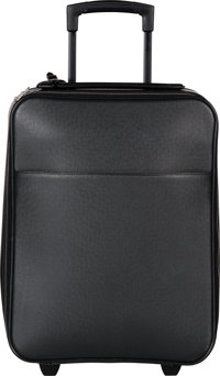 """Louis Vuitton Black Taiga Leather Pegase 45 Suitcase Bag Very Good to Excellent Condition 14"""" Wid"""