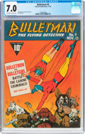 Golden Age (1938-1955):Superhero, Bulletman #9 (Fawcett Publications, 1942) CGC FN/VF 7.0 Off-white to white pages....