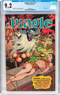 Jungle Comics #77 (Fiction House, 1946) CGC NM- 9.2 Off-white pages