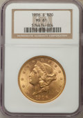 Liberty Double Eagles, 1906-S $20 MS61 NGC. NGC Census: (1441/2650). PCGS Population: (749/3310). Mintage 2,065,750.. From The Martin Peterso...