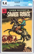 Silver Age (1956-1969):Western, Four Color #807 Savage Range (Dell, 1957) CGC NM 9.4 Off-white towhite pages....