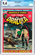 Bronze Age (1970-1979):Horror, Tomb of Dracula #1 (Marvel, 1972) CGC NM 9.4 Off-white pages....