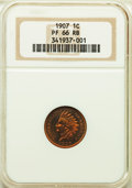 Proof Indian Cents, 1907 1C PR66 Red and Brown NGC. NGC Census: (12/2). PCGS Population: (20/4). Mintage 1,475.. From The Martin Peterson ...