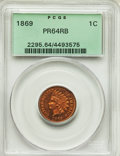 Proof Indian Cents, 1869 1C PR64 Red and Brown PCGS. PCGS Population: (92/48). NGC Census: (45/42). CDN: $600 Whsle. Bid for problem-free NGC/P...