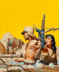 Pulp, Pulp-like, Digests, and Paperback Art, Stanley Borack (American, 1927-1993). Only One Survived, MenTrue Adventure magazine cover, June 1958. Gouache on board...(Total: 2 Items)