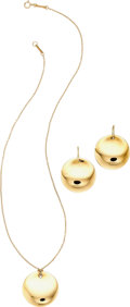 Estate Jewelry:Suites, Gold Jewelry Suite, Elsa Peretti for Tiffany & Co. . ...(Total: 3 Items)