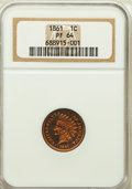 Proof Indian Cents, 1861 1C PR64 NGC....