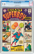 Silver Age (1956-1969):Superhero, Superboy Annual #1 (DC, 1964) CGC VF- 7.5 Off-white to white pages....
