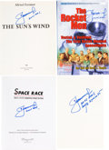Autographs:Celebrities, Alexei Leonov Signed Books (Four): The Sun's Wind [and]The Rocket Men, Vostok & Voskhod, The First Manned S...(Total: 4 Items)