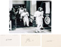 Autographs:Celebrities, Apollo 15 Separate Crew Signatures with Photo.... (Total: 4 Items)
