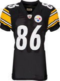 Football Collectibles:Uniforms, 2010 Hines Ward Game Worn Pittsburgh Steelers Jersey - Used 11/21 vs. Raiders....