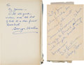 Football Collectibles:Publications, 1949 and 1979 Sid Luckman and George Halas Signed Hardcover Books (2)....