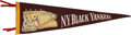 Baseball Collectibles:Others, Circa 1940 New York Black Yankees Pennant....