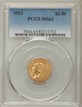 Indian Quarter Eagles: , 1912 $2 1/2 MS63 PCGS. PCGS Population: (892/668). NGC Census:(1066/714). CDN: $1,000 Whsle. Bid for problem-free NGC/PCGS...