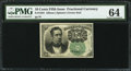 Fractional Currency:Fifth Issue, Fr. 1264 10¢ Fifth Issue PMG Choice Uncirculated 64.. ...
