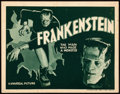 """Movie Posters:Horror, Frankenstein (Universal, R-1938). Title Lobby Card (11"""" X 14"""").. ..."""