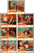 """Movie Posters:Horror, Freaks (Excelsior, R-1949). Lobby Cards (7) (11"""" X 14"""").. ... (Total: 7 Items)"""