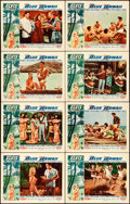 """Movie Posters:Elvis Presley, Blue Hawaii (Paramount, 1961). Lobby Card Set of 8 (11"""" X 14"""").. ... (Total: 8 Items)"""