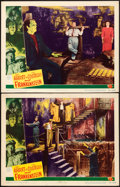 "Movie Posters:Horror, Abbott and Costello Meet Frankenstein (Universal International,1948). Lobby Cards (2) (11"" X 14"").. ... (Total: 2 Items)"