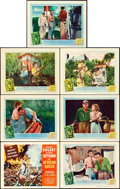 """Movie Posters:Adventure, The African Queen (United Artists, 1952). Title Lobby Card &Lobby Cards (6) (11"""" X 14"""").. ... (Total: 7 Items)"""