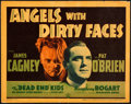 """Movie Posters:Crime, Angels with Dirty Faces (Warner Brothers, 1938). Linen Finish Title Lobby Card (11"""" X 14"""").. ..."""