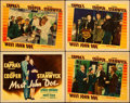 "Movie Posters:Drama, Meet John Doe (Warner Brothers, 1941). Linen Finish Title LobbyCard & Lobby Cards (3) (11"" X 14"").. ... (Total: 4 Items)"