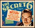"Movie Posters:Crime, The Secret Six (MGM, 1931). Title Lobby Card (11"" X 14"").. ..."