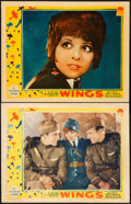 "Movie Posters:Academy Award Winners, Wings (Paramount, 1927). Lobby Cards (2) (11"" X 14"").. ... (Total:2 Items)"
