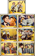 "Movie Posters:Comedy, Bonnie Scotland (MGM, 1935). Lobby Cards (7), 1 Card Autographed(11"" X 14"").. ... (Total: 7 Items)"
