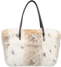 "Luxury Accessories:Bags, Fendi White Rabbit Fur Tote Bag. Excellent to PristineCondition. 11"" Width x 7"" Height x 3"" Depth. ..."