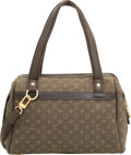 "Luxury Accessories:Bags, Louis Vuitton Green Monogram Lin Canvas Josephine Bag. ExcellentCondition. 11"" Width x 8"" Height x 5"" Depth. ..."