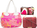 "Luxury Accessories:Bags, Emilio Pucci Set of Three; Pink Python, Canvas & Nylon CanvasBags. Very Good to Excellent Condition. 12"" Width x 9"" Heigh...(Total: 3 Items)"