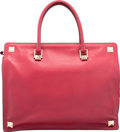 "Luxury Accessories:Bags, Valentino Red Leather Tote Bag. Excellent Condition.15.5"" Width x 12"" Height x 5"" Depth. ..."