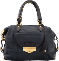 Louis Vuitton Haute Maroquinerie Collection Navy Lambskin Leather Tote Bag Excellent Condition 13