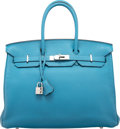 "Luxury Accessories:Bags, Hermes 35cm Colvert Togo Leather Birkin Bag with PalladiumHardware. P Square, 2012. Excellent Condition. 14"" Width x 10""..."